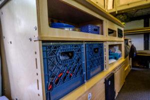 Mantis storage under the kitchen