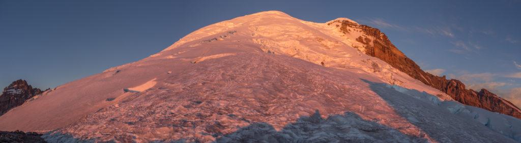 Mount Rainier as the sun rises