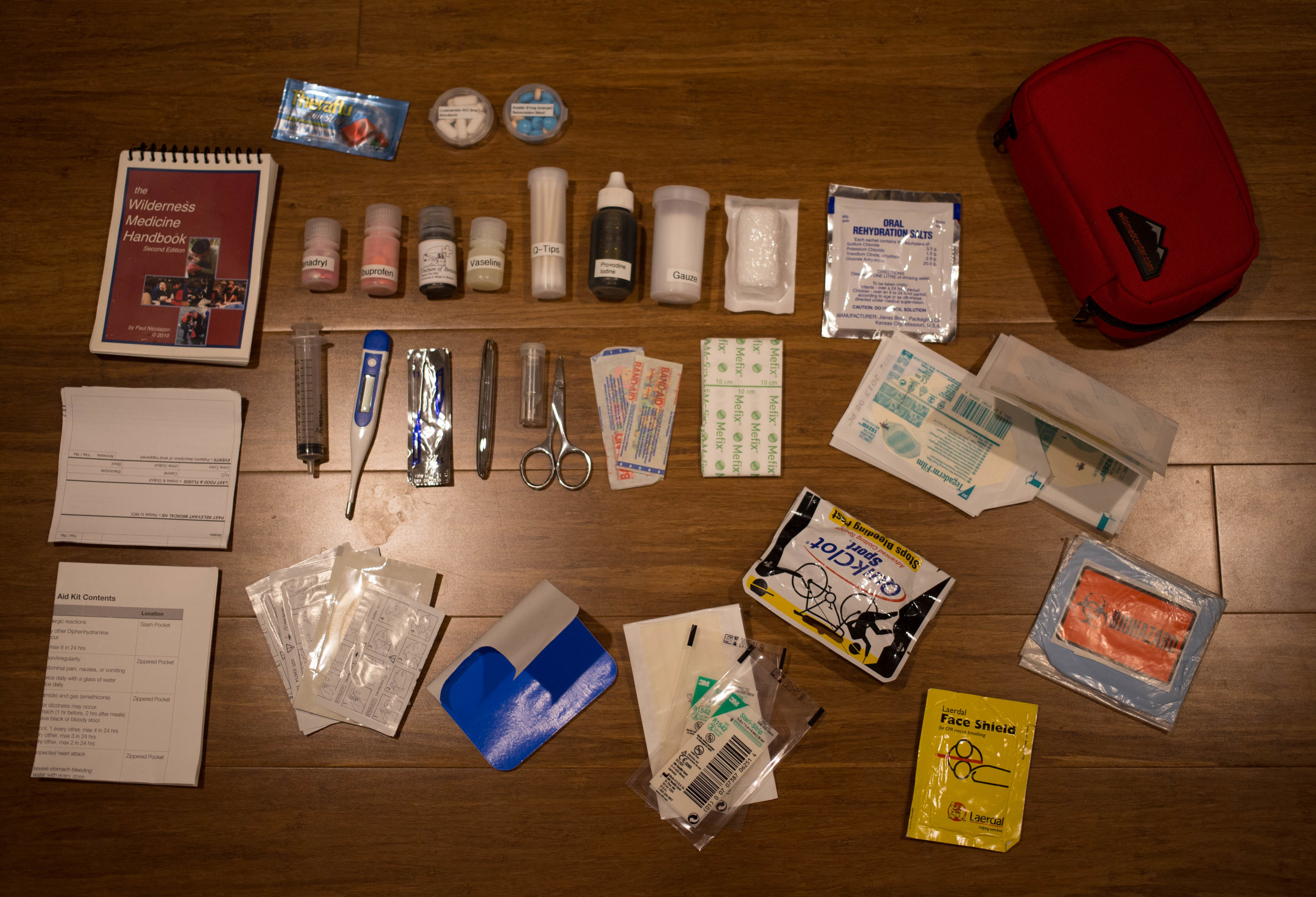 Personal First Aid Kit Contents