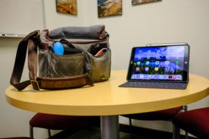 My Ona Prince Street on a table next to my iPad Pro